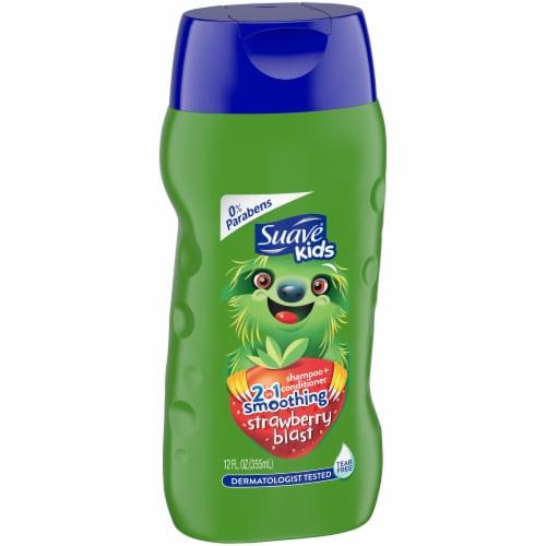 Suave Kids Strawberry Blast 2-in-1 Shampoo + Conditioner Perspective: left
