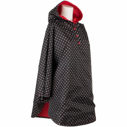 Totes Women's Signature Reversible Rain Poncho - Red Perspective: left