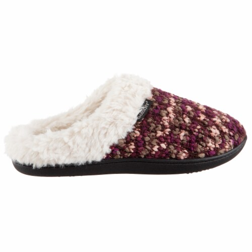Isotoner® Women's Knit Amanda Hoodback Slippers - Henna Perspective: left