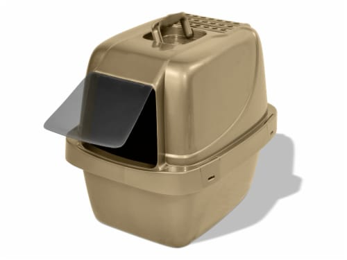 Van Ness Large Enclosed Sifter Cat Pan Perspective: left