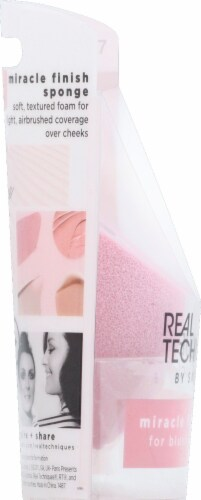 Real Techniques Miracle Finish Sponge Perspective: left