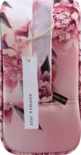 Sophia Joy Floral Wristlet Makeup Bag 3 Piece Perspective: left