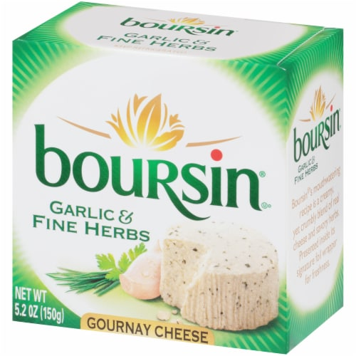 Boursin Garlic & Fine Herb Gournay Cheese Perspective: left