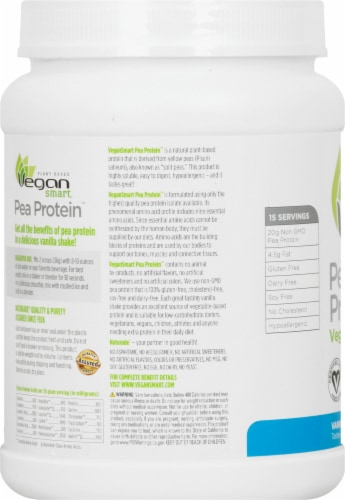 Naturade Pea Protein Vanilla Vegan Shake Perspective: left