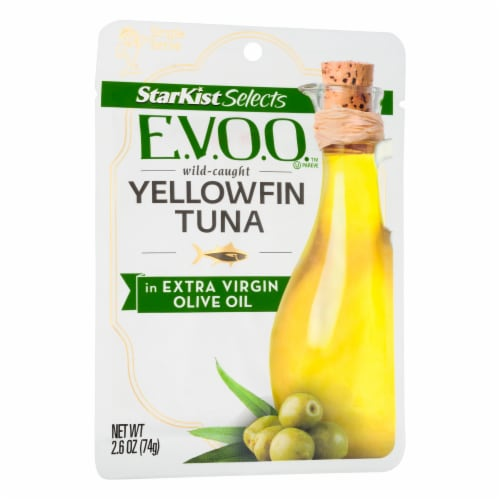 StarKist Selects E.V.O.O. Yellowfin Tuna in Extra Virgin Olive Oil Perspective: left