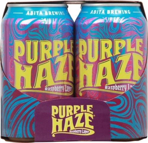 Abita® Brewing Purple Haze Raspberry Lager Perspective: left