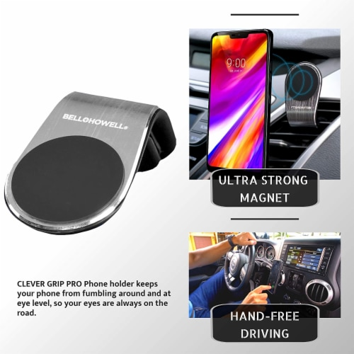 Bell and Howell Clever Grip Pro Portable Magnetic Phone Mount Perspective: left