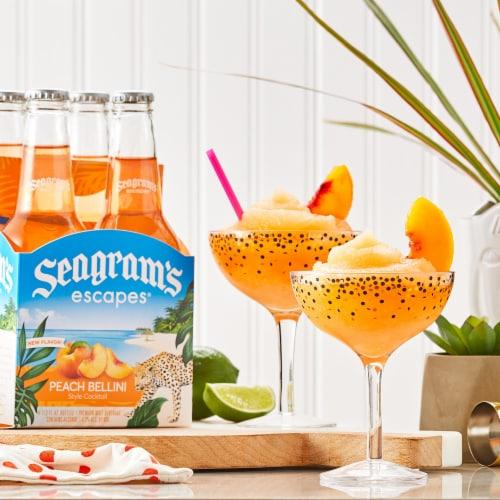 Seagram's Escapes Peach Bellini Style Cocktail Malt Beverage Perspective: left