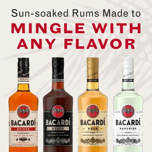 Bacardi Black Rum Perspective: left
