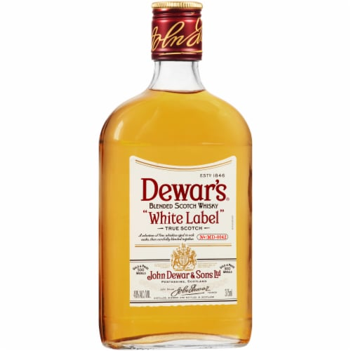 Dewar's White Label Blended Scotch Whisky Perspective: left
