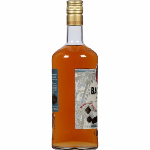 Bacardi Anejo Cuatro 4 Years Aged Gold Rum Perspective: left