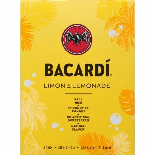 Bacardi Limon & Lemonade Real Rum Cocktails Perspective: left