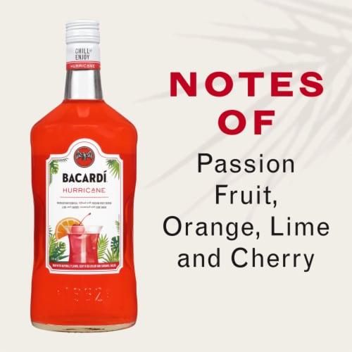 Bacardi Hurricane Premium Rum Cocktail Perspective: left