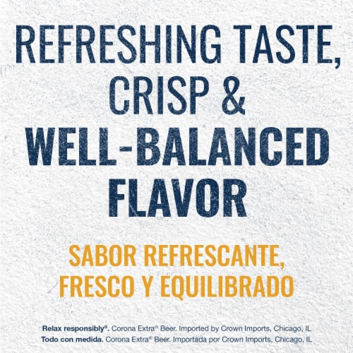 Corona Extra Lager Beer Perspective: left