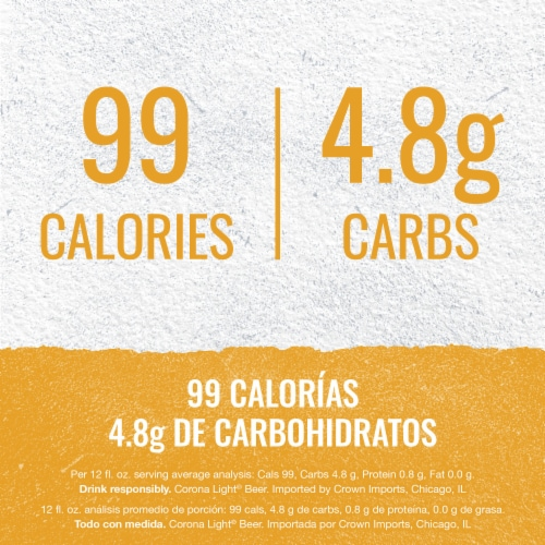 Corona® Light Lager Beer Perspective: left