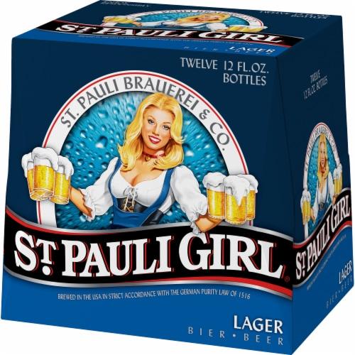 St. Pauli Girl Lager Beer Perspective: left