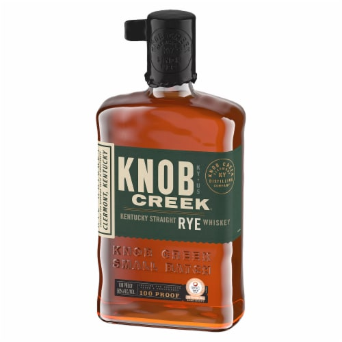 Knob Creek Kentucky Bourbon Rye Whiskey Perspective: left