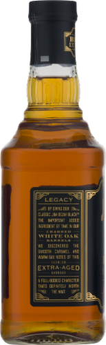 Jim Beam Black Extra-Aged Kentucky Straight Bourbon Whiskey Perspective: left