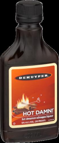 DeKuyper Hot Damn Hot Cinnamon Schnapps Liqueur Perspective: left