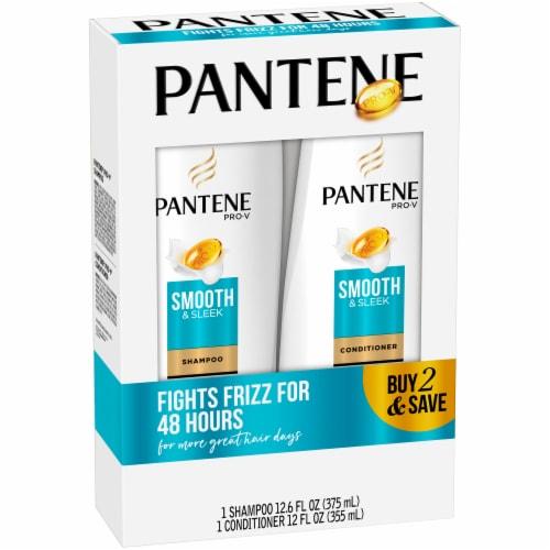 Pantene Pro-V Smooth & Sleek Shampoo and Conditioner Bundle Pack Perspective: left