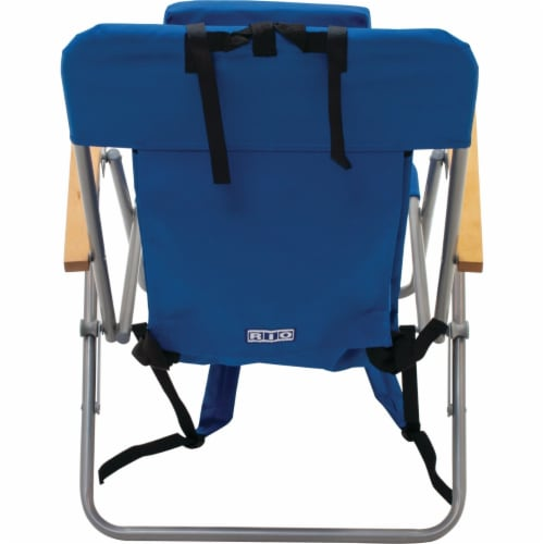 Rio Brands Blue Canvas Backpack Folding Chair SC527-28PK6 Perspective: left