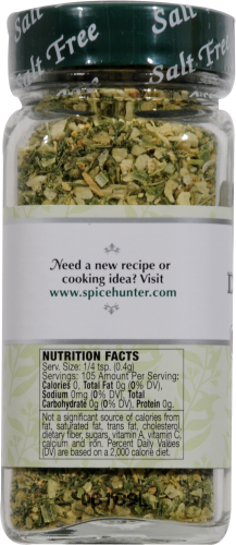 The Spice Hunter Salt Free Deliciously Dill Blend Spice Perspective: left
