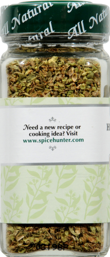 The Spice Hunter High Mountain Greek Oregano Leaves Perspective: left