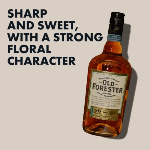 Old Forester® Kentucky Straight Bourbon Whisky Perspective: left