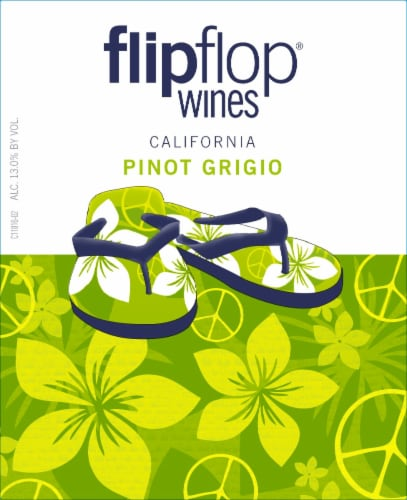 Flipflop Pinot Grigio White Wine Perspective: left