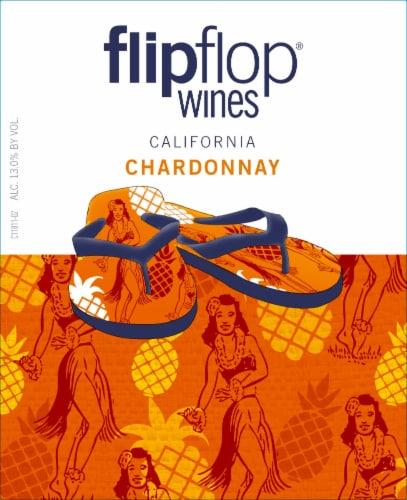 Flipflop Chardonnay White Wine Perspective: left