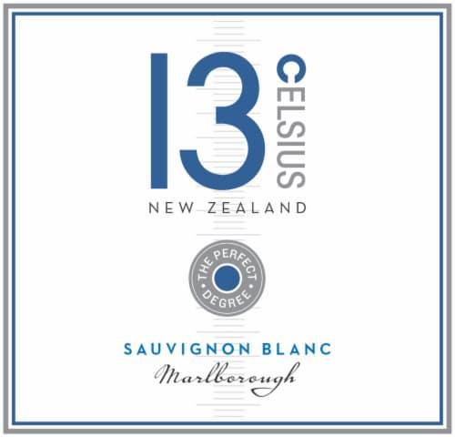 13 Celsius Sauvignon Blanc White Wine Perspective: left