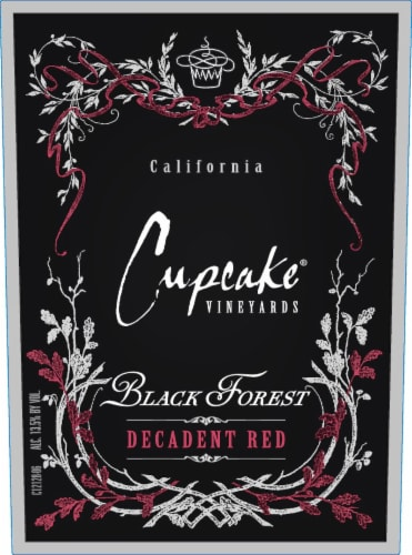 Cupcake Black Forest Decadent Red Wine Perspective: left