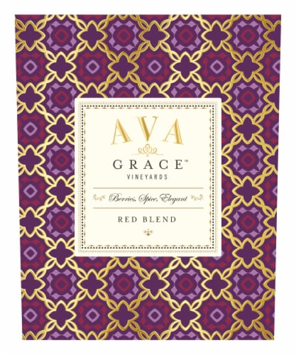 Ava Grace Vineyards Red Blend Wine Perspective: left