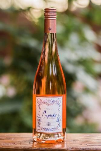 Cupcake Vineyards Rose Wine Perspective: left