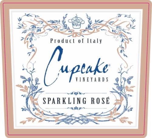 Cupcake Sparkling Rose Wine Perspective: left