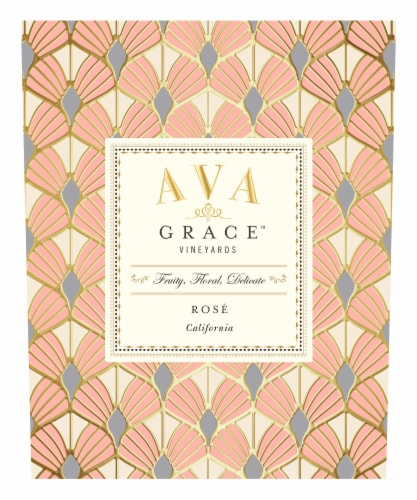 Ava Grace Wineyards Rose Wine Perspective: left