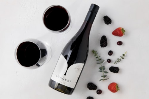 Imagery Pinot Noir Red Wine Perspective: left