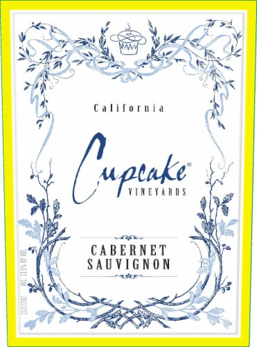 Cupcake Vineyards Cabernet Sauvignon Red Wine Perspective: left