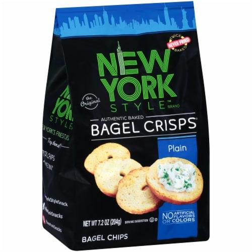New York Style Plain Bagel Crisps Perspective: left