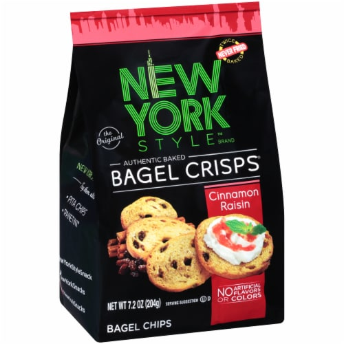 New York Style Cinnamon Raisin Bagel Crisps Perspective: left