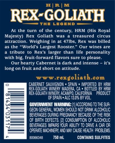 Rex-Goliath Cabernet Sauvignon Red Wine Perspective: left