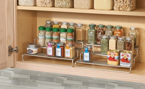 InterDesign Classico Expandable Spice Rack - Silver Perspective: left