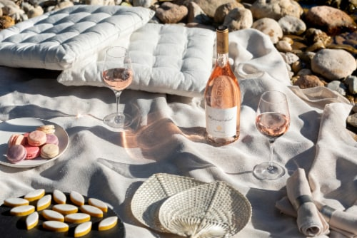 Chateau D'esclans Whispering Angel Rose Wine Perspective: left
