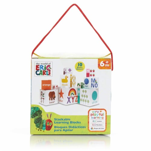 Kids Preferred World of Eric Carle, The Very Hungry Caterpillar Stacking/Nesting Blocks Perspective: left