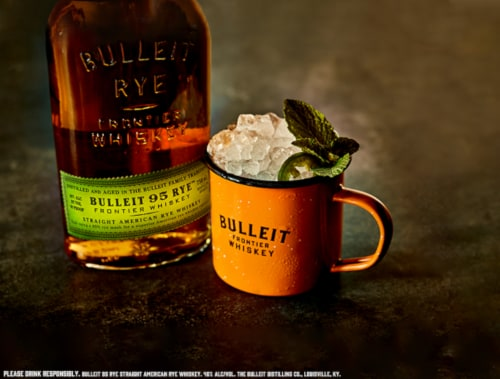 Bulleit 95 Rye Small Batch Straight American Rye Whiskey Perspective: left