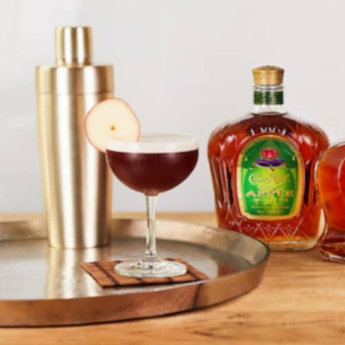 Crown Royal Regal Apple Flavored Canadian Whisky Perspective: left
