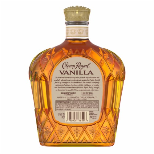 Crown Royal Vanilla Flavored Canadian Whisky Perspective: left