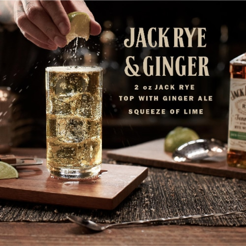 Jack Daniel's® Rye Tennessee Straight Rye Whiskey Perspective: left