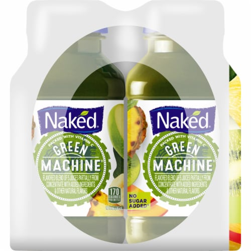 Naked Boosted Green Machine Juice Smoothie Perspective: left