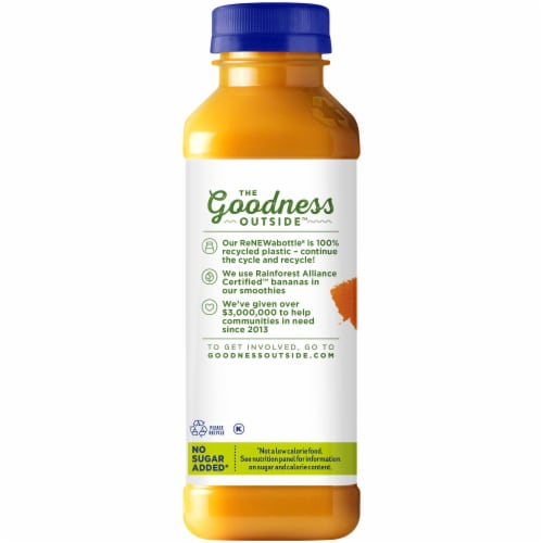 Naked Juice 100% Juice Fruit Smoothie Mighty Mango Perspective: left